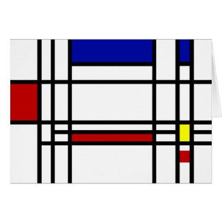 Mondrian Modern Art Note Card