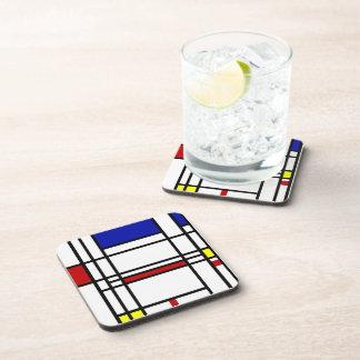 Mondrian Modern Art Drink Coaster