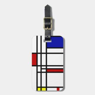 Mondrian Modern Art Luggage Tag
