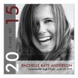 Mondrian Modern Graduation Grad Photo Announcement 13 Cm X 13 Cm Square Invitation Card