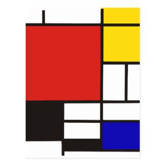 Mondrian Postcard