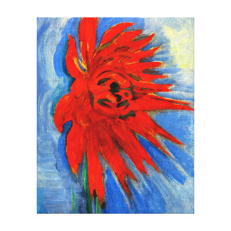 Mondrian - Red Chrysanthemum Canvas Print