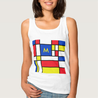 Mondrian Red Yellow Blue based on geometrical Tee