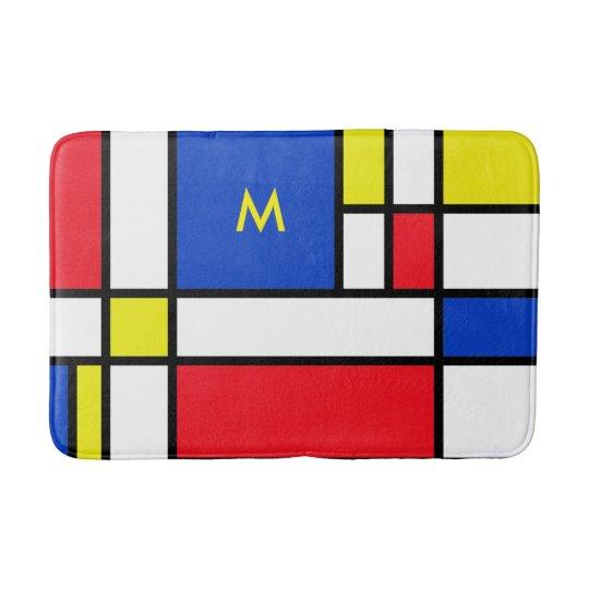 Mondrian Red Yellow Blue Bath Mat