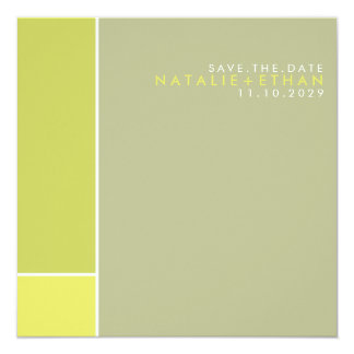 Mondrian Retro Mod Art Colorful Save The Date Announcement