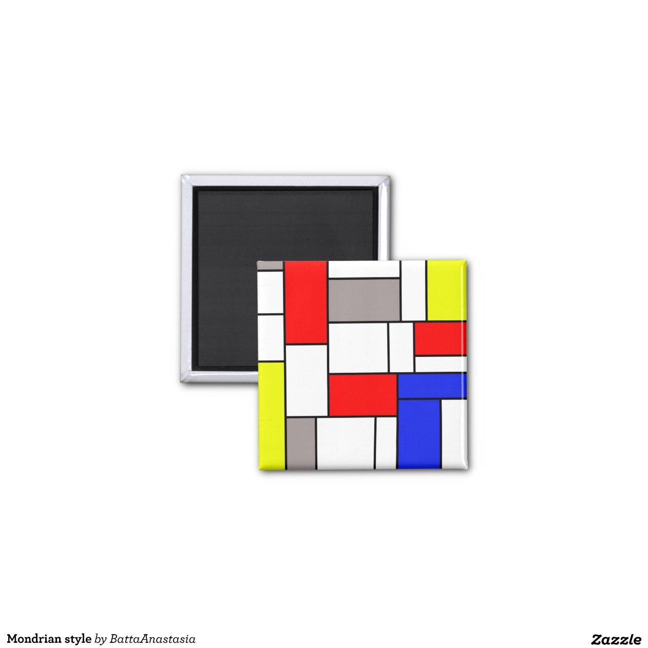 Mondrian style zazzle - Tapis style mondrian ...