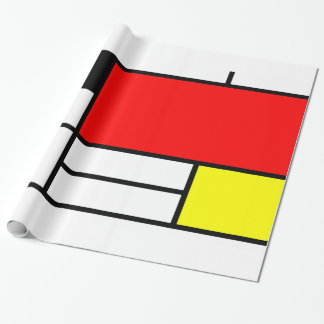 Mondrian style art wrapping paper