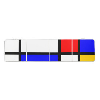 Mondrian style beer pong table