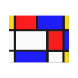 Piet mondrian wrapped canvas prints - Tapis style mondrian ...