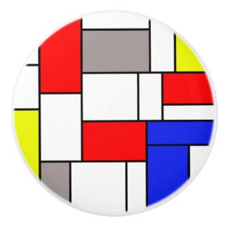Mondrian style ceramic knob