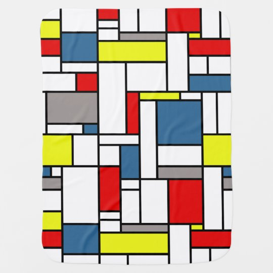 Mondrian style design baby blanket