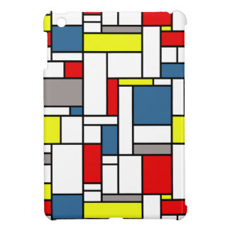 Mondrian style design iPad mini case