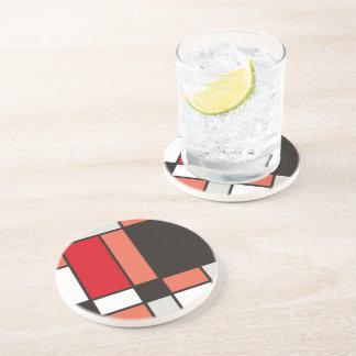 Mondrian style illustration coaster