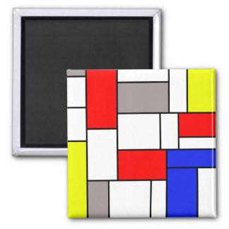 Mondrian style fridge magnets