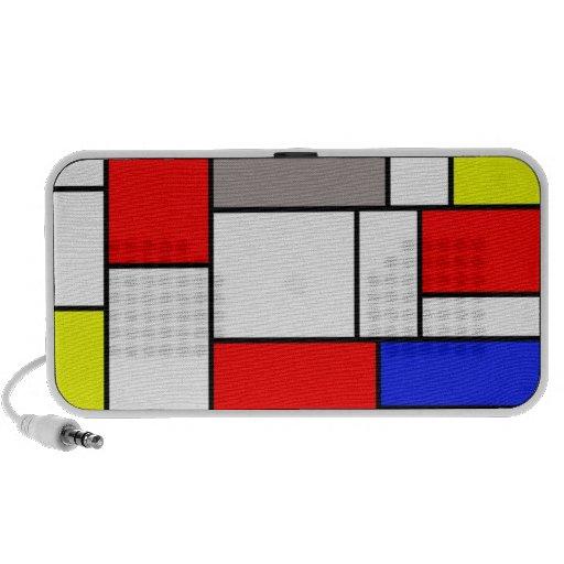 Mondrian style speaker