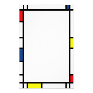 Mondrian Style Stationery