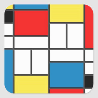 Mondrian Style Stickers