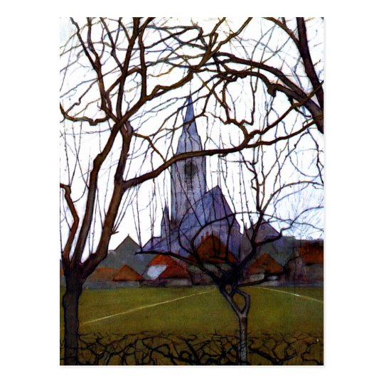 Mondrian - Village Church Postcard
