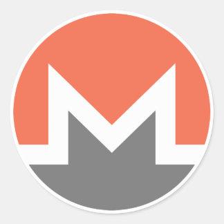 Monero (xmr) classic round sticker