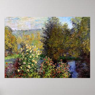 Monet - A Corner of the Garden at Montgeron Poster