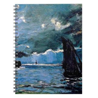 Monet A Seascape Shipping Notebooks