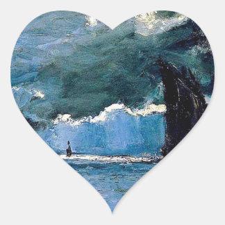 Monet A Seascape Shipping Heart Stickers