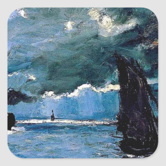 Monet A Seascape Shipping Stickers