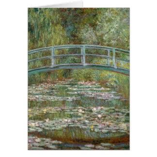 Monet Art Bridge over a Pond of Water Lilies Card