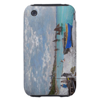Monet Beach at St Adresse Tough iPhone 3 Case
