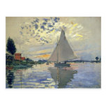 Monet boat water Sailing in Le-Petit-Gennevillie
