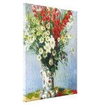 MONET Bouquet of Gladiolas 16x20 canvas art Canvas Prints