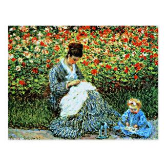 Monet - Camille Monet and Child Postcard