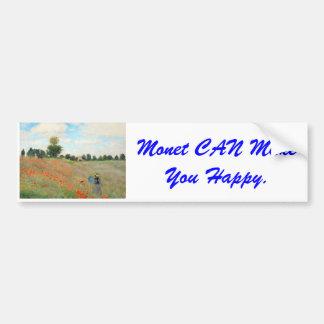 Monet CAN Make You Happy Bumper Sticker. Bumper Sticker