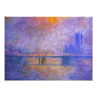 Monet Charing Cross Bridge Print