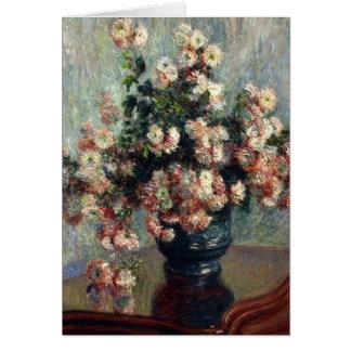 Monet Chrysanthemums Card