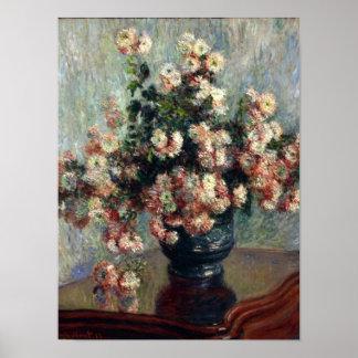 Monet Chrysanthemums Print
