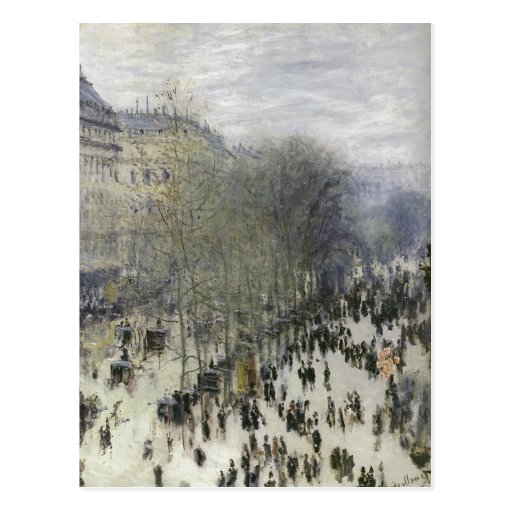 Monet, Claude Boulevard des Capucines 1873 Techniq Postcards