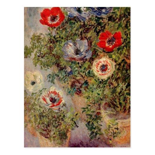 Monet, Claude Stilleben mit Anemonen um 1885 c. 18 Postcards