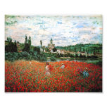 Monet Field of Red Poppies Art Photo