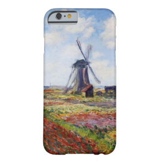 Monet Field of Tulips With Windmill iPhone 6 case Barely There iPhone 6 Case
