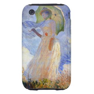 Monet Figure Facing Left Tough iPhone 3 Case