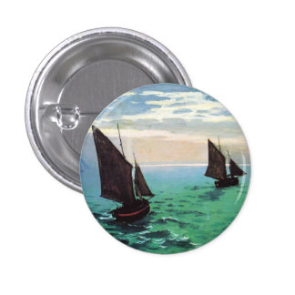 Monet Fishing Boats at Sea Button