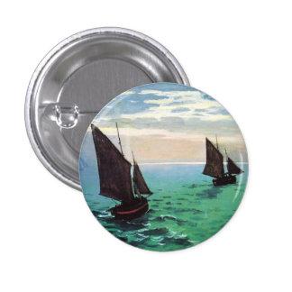 Monet Fishing Boats at Sea Button