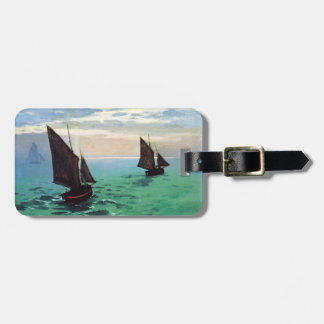 Monet Fishing Boats at Sea Luggage Tag