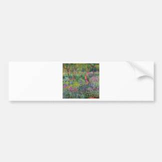 monet flowers vintage the-iris-garden-at-giverny bumper stickers