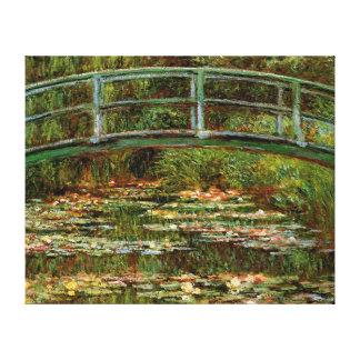Monet French Japanese Bridge Impressionist Gallery Wrap Canvas
