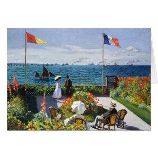 Monet Garden at Sainte Adresse Greeting Card