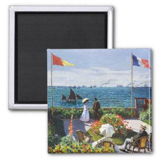 Monet Garden at Sainte Adresse Magnet