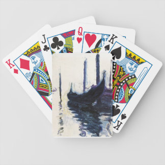 Monet Gondola In Venice Bicycle Playing Cards
