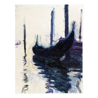 Monet Gondola In Venice Postcard